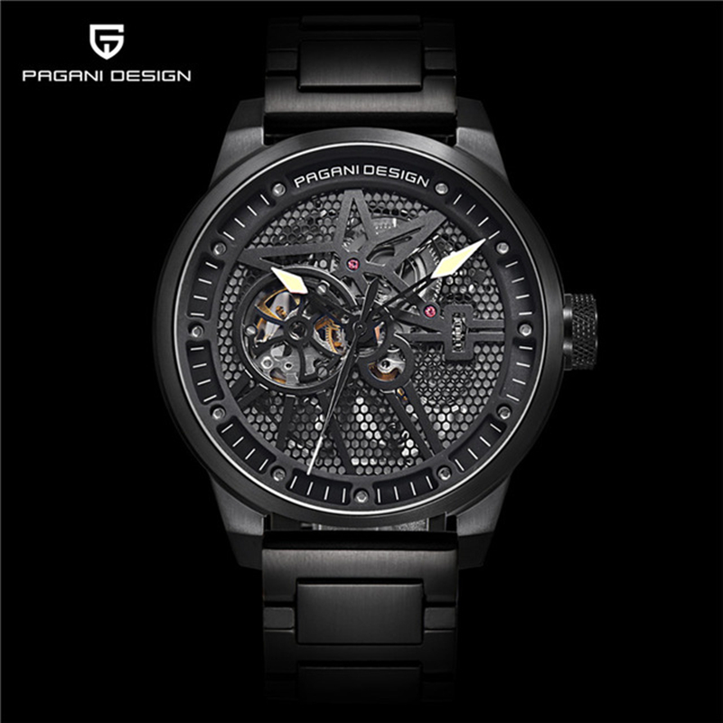 PAGANI DESIGN Top Brand Luxury Men Full Steel Mechanical Watches Sport skeleton Automatic Self-Wind Men's Watch Man montre homme cadisen new design bezel golden watch mens watches top brand luxury montre homme clock men automatic skeleton watch