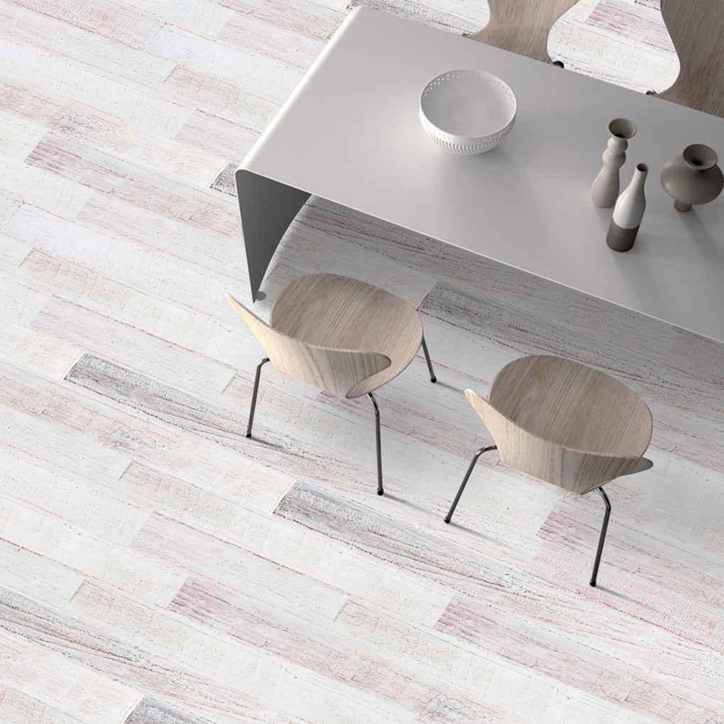 Self-adhesive Wood Grain Floor Stickers PVC Bedroom Floor Mat Contact Paper