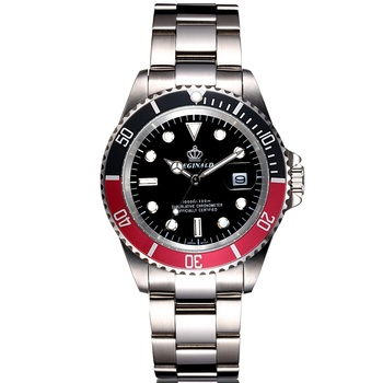 Mens Quartz Steel Waterproof Diver Wrist Watch 1