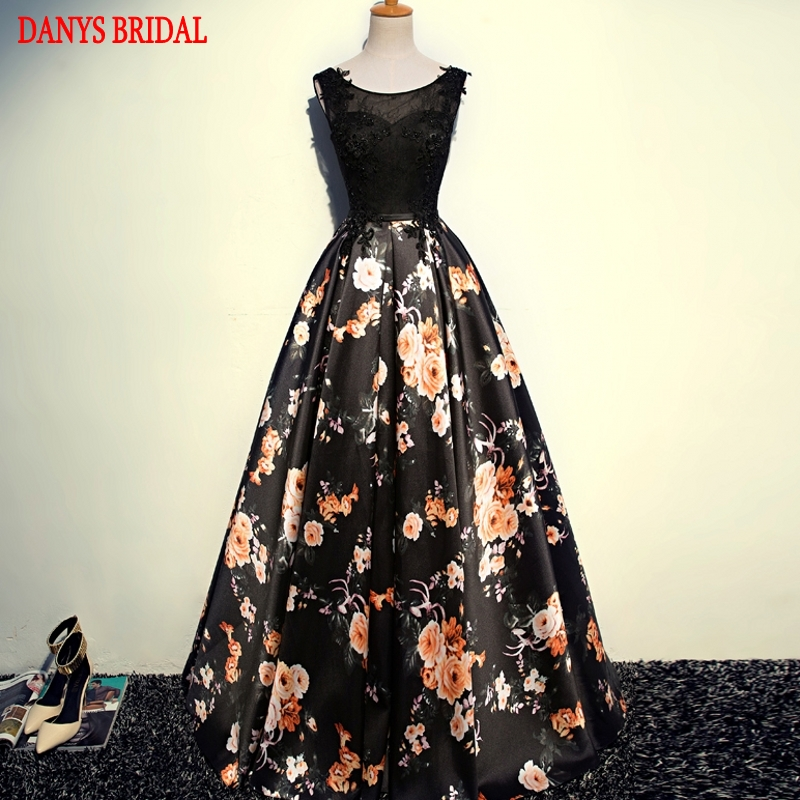 Sexy Long Evening Dresses Party Beautiful Women Floral Formal Evening Gowns Dresses on Sale robe de soiree longue