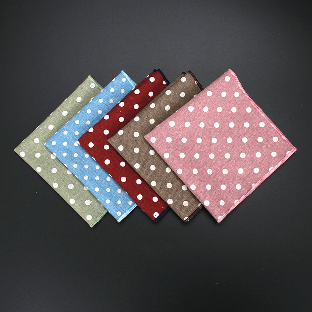 Men's Business Polka Dots Hanky Handkerchief Wedding Party Tuxedo Pocket Square YFTIE0203