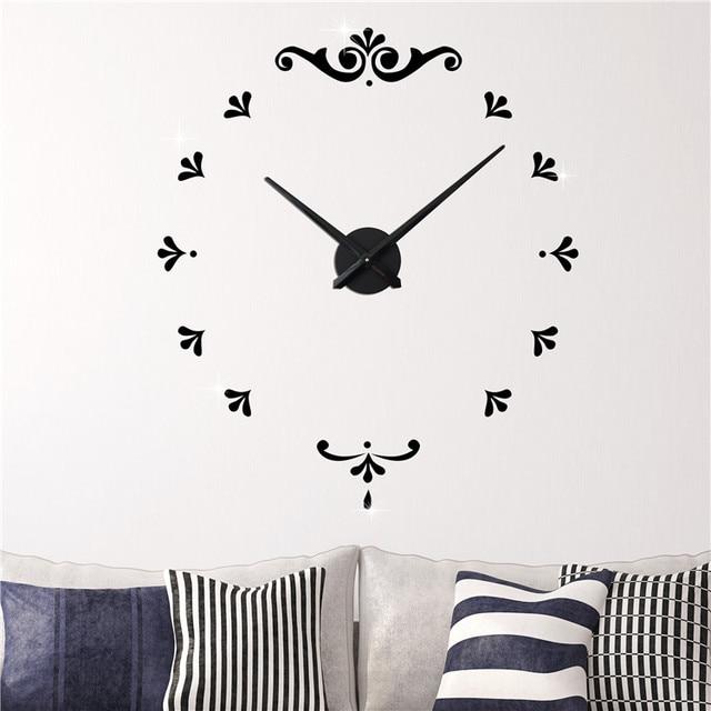 Superb Neue Heiße Verkauf Wanduhr Moderne 3D Rahmenlose Stil Uhr DIY Big Size Wanduhr  Wohnzimmer Dekoration Photo
