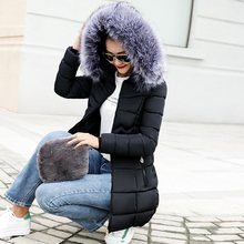 Fake fur collar down Parka women cotton jacket 2019 Winter Jacket Women thick Snow Wear Coat Lady Clothing Female Jackets Parkas(China)