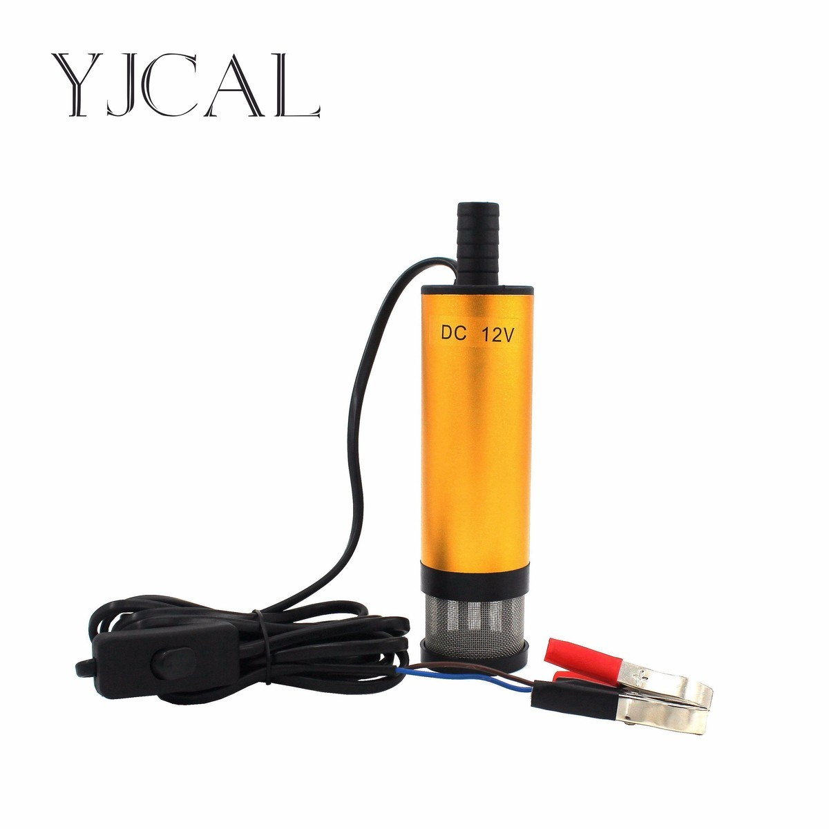 Car Electric Submersible Pump Diameter 51MM DC 12V 24V Motor Suction Oil Water Disel Pump Stainless Steel Band Strainer