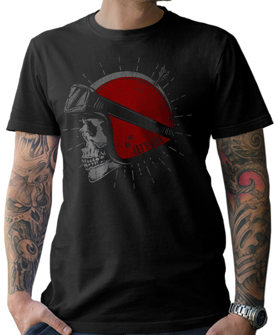 <font><b>T</b></font> <font><b>Shirt</b></font> Skull Biker Oldschool Motorcycle <font><b>Shirt</b></font> Moto <font><b>Mc</b></font> Live 2019 Man'S Op Neck Designer Adults Casual Tee <font><b>Shirt</b></font> Fitted <font><b>T</b></font> <font><b>Shirts</b></font> image