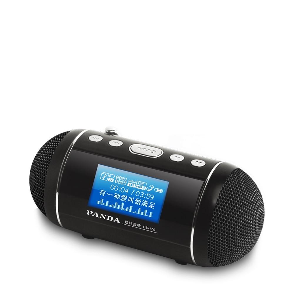 PANDA DS-170 U Disk / TF Card MP3 Player Card Speaker Timer Switch Song Lyrics Synchronized Radio