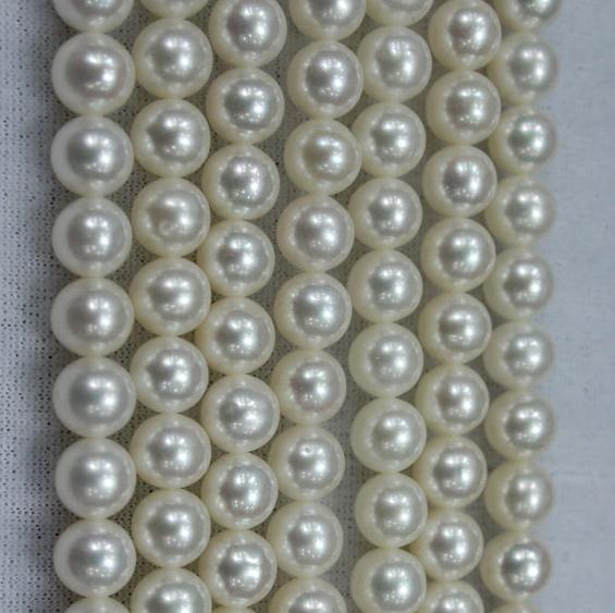Unique Pearls jewellery Store 7mm White Round Freshwater Pearl Loose Beads DIY Jewelry One Full Strand LS4-016Unique Pearls jewellery Store 7mm White Round Freshwater Pearl Loose Beads DIY Jewelry One Full Strand LS4-016