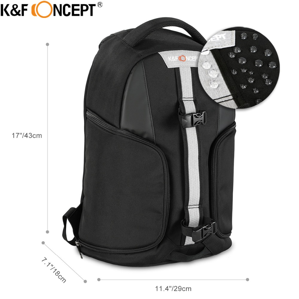 K&F CONCEPT Modern/Casual Camera Backpack (S) with Raincover hold 1 Camera+Multiple Lenses+Flashlight+Tripod+Ipad+Small Items литой диск replica legeartis concept ns512 6 5x16 5x114 3 et40 d66 1 bkf
