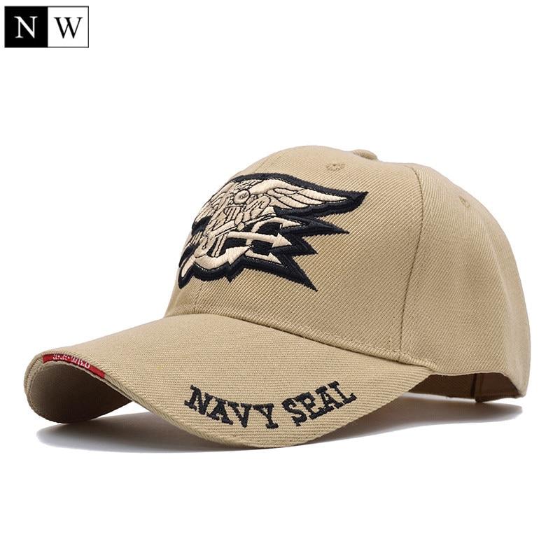 [NORTHWOOD] Высококачественная мужская бейсбольная Кепка в морском стиле США, темно-синяя кепка с уплотнениями, тактическая армейская Кепка, Кепка с козырьком, бейсболка для взрослых - Цвет: Khaki