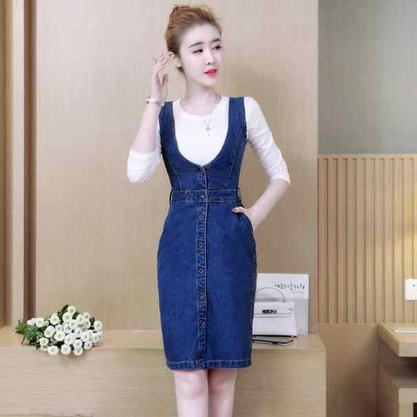2019 летнее облегающее джинсовое платье для женщин, сексуальное, на бретелях, однобортное, джинсовое платье, платье, плюс размер, vestidos WF160