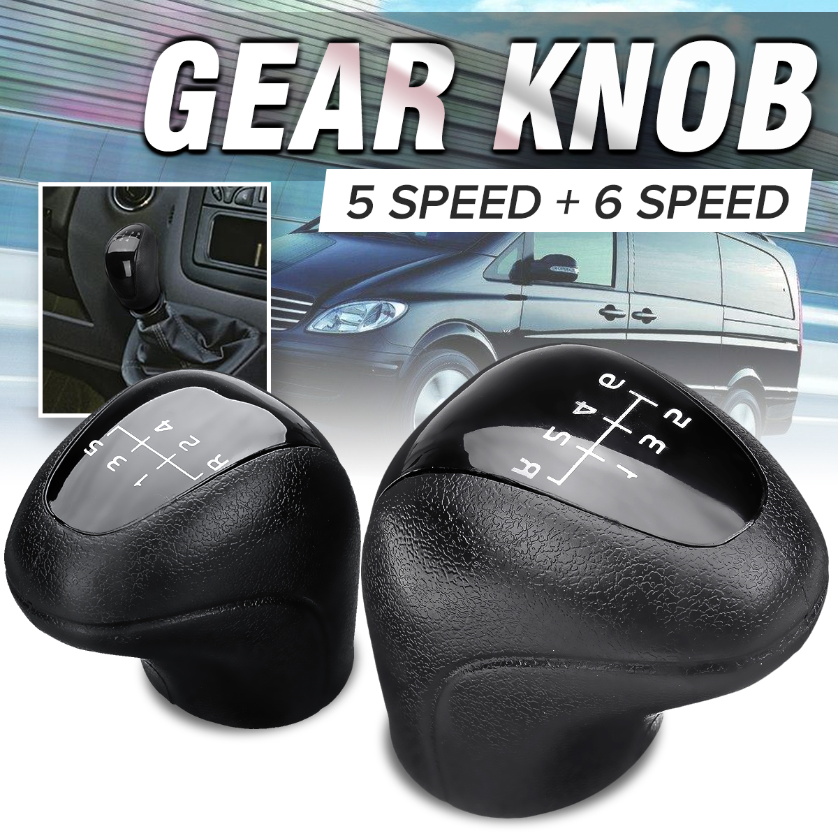 5/6 Speed Manual Car Gear Shift Knob Shifter Lever Stick For Mercedes Vito Viano Sprinter II For VW Crafter-in Gear Shift Knob from Automobiles & Motorcycles