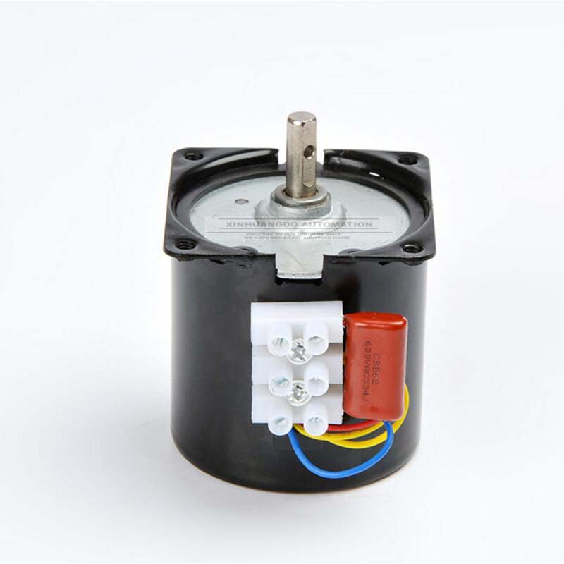 Bringsmart 60ktyz 2.5rpm 110V AC Motor Low Speed Mini Gearbox Electric Motor