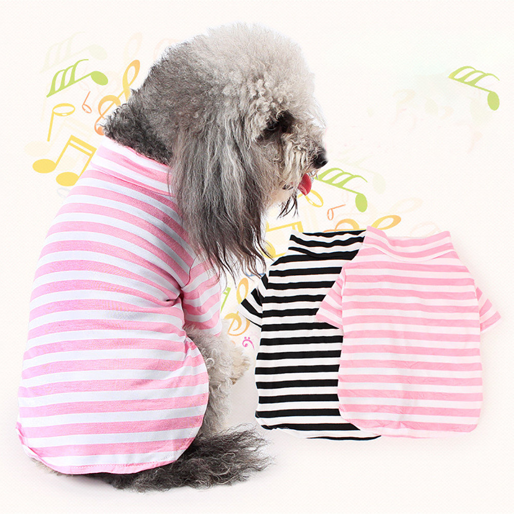 Pet Dog Clothes Cotton Striped Vest Puppy Outfit Clothes For Small Dogs Chihuahua Spring Summer French Bulldog Pitbull costume