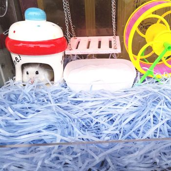 Confetti for Hamster Cage Substrate Nesting Paper Toy Small Animal Warm Bedding Pet Hamster Accessories 2