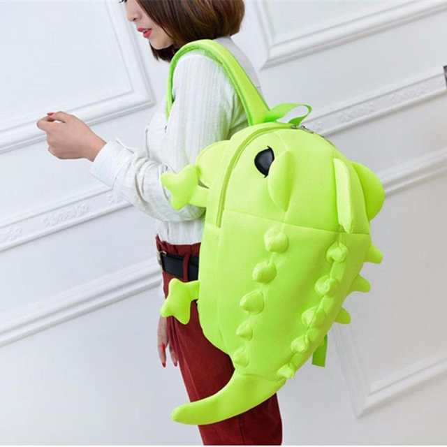 fe57046dffff Online Shop 3D Creative Boys Girls Cartoon Dinosaur Monster Backpack  Student School Bag Animal For Student Color Rucksack Kids Gift 2