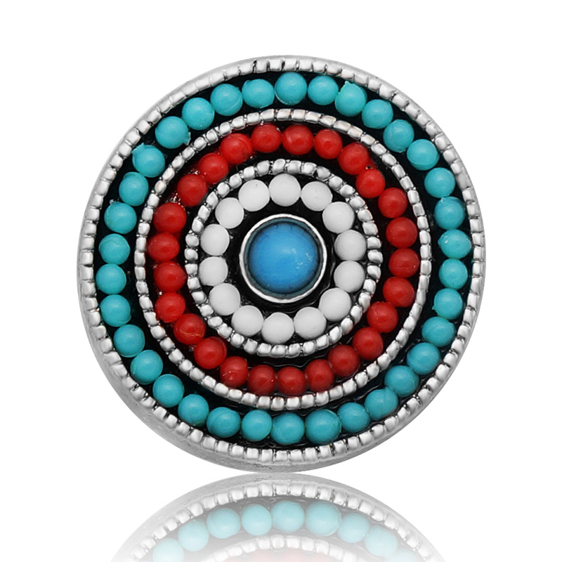 18MM Round beads beauty Metal charming snap buttons KZ1026 for DIY snap pendants jewelrys charm wholesale