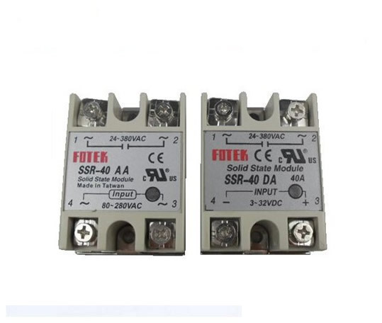 4pcslot Single Phase 40A Solid State Relay 2pcs SSR 40AA 2pcs - Solid State Relay Ir