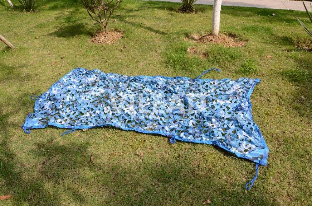 VILEAD 3.5M*10M Camo Netting Blue Camouflage Netting Camo Tarp For Gazebo Netting Pergolas Netting Sun Shelter Roof Decoration