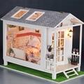 Handmade Doll House Furniture Miniatura Diy Doll Houses Miniature Dollhouse Wooden Toys For Children Birthday Gift Craft 13817