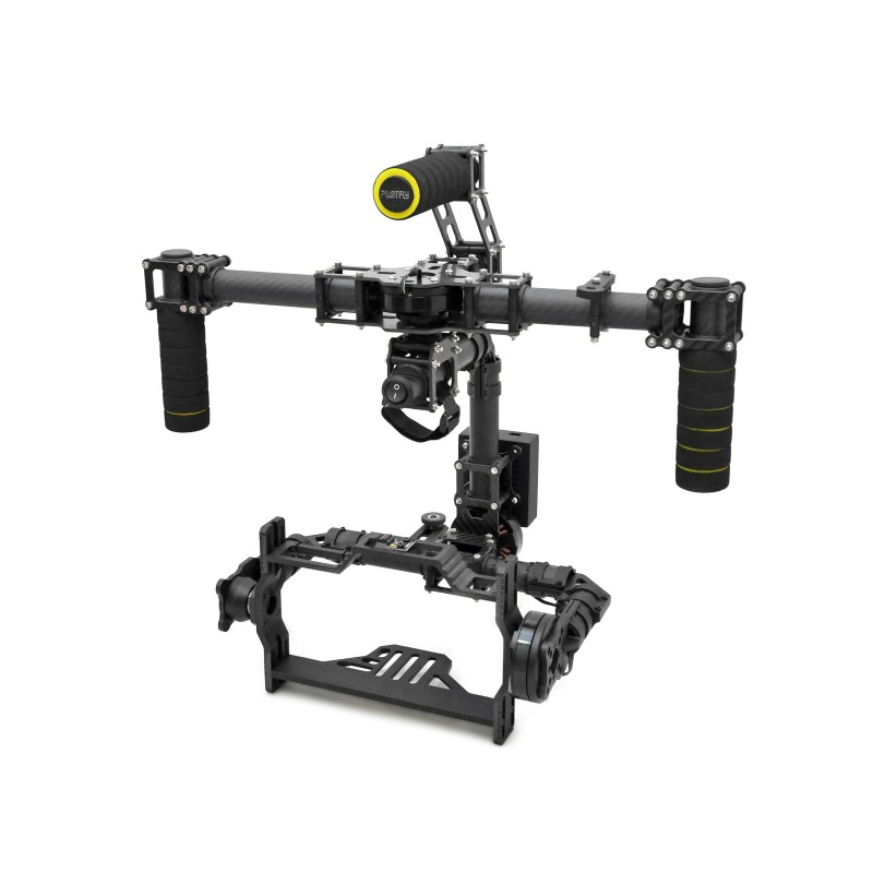 Handheld Brushless 3K Carbon Fiber Gimbal with Controller for D800 D900 DSLR camera ashanks mini carbon fiber handheld