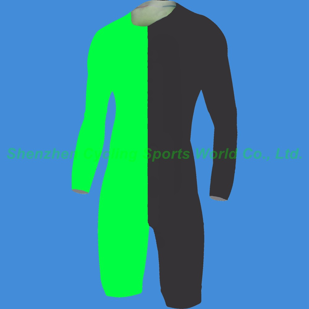 2015 Solid Black Fluo Green Long Sleeve Cycling Skinsuit Men's Triathlon Sports Clothing Cycling Ropa De Ciclismo Maillot фигурки neca фигурка heroes of the storm 7 scale action figure series 2 tyrael