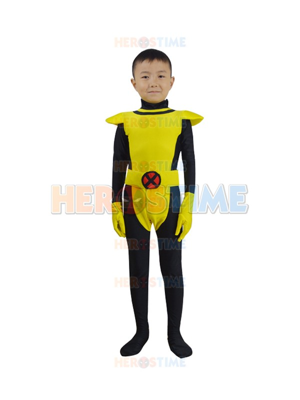 Free Shipping Child X-men Kitty Pryde Superhero Costume Zentai Lycra Spandex Kids Xmen Cosplay Costume