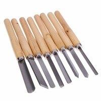 8pcs alças de madeira torno ferramenta conjunto cortador para escultura em madeira madeira ferramenta de disco para carpintaria carpinteiro