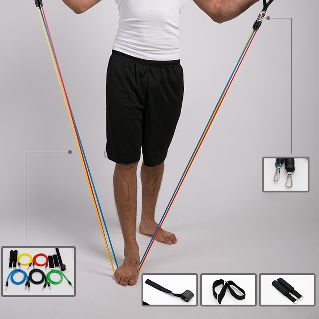 Bands Workout Exercise Pilates Yoga New 11 Pcs/Set Latex Resistance Crossfit Fitness Tubes Pull Rope
