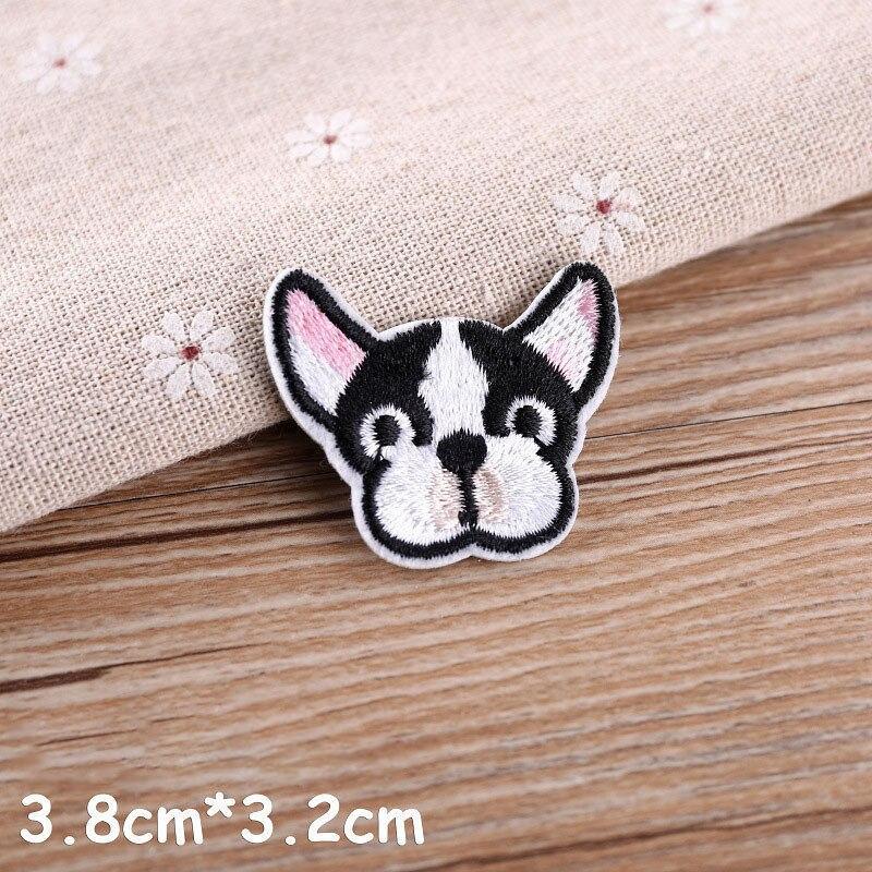 1 шт., нашивка для вышивания собаки, термопередача, гладить на вышивать на пачках для одежды DIY, футболка, тканевая наклейка, декоративные аппликации 47267 - Цвет: N