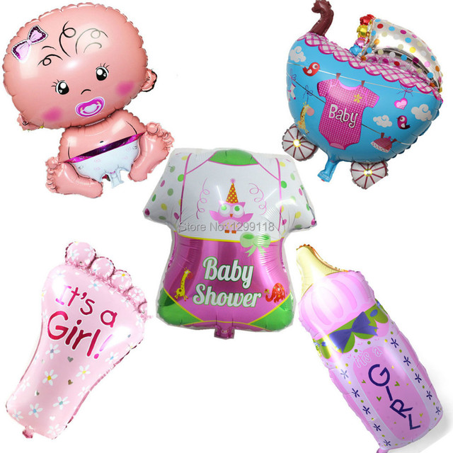 5 Styles Cartoon Baby Girl Helium Foil Balloons Birthday Party
