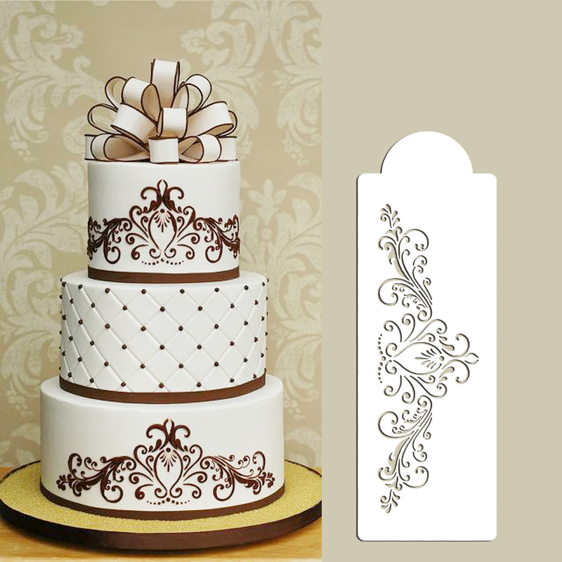 Cake Decorating Flower Templates : Small Princess Lace Cake Stencil, Cake Side Stencil ...
