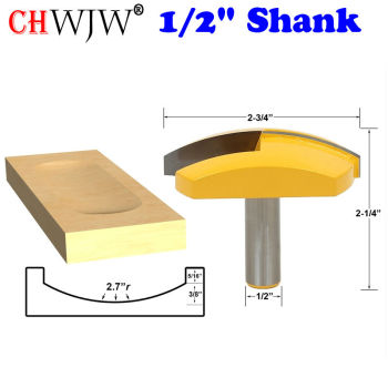 1pc 1/2 Shank Large Bowl Router Bit - 2.7 Radius - 2-3/4 Wide  For Woodworking Cutting Tool - Chwjw 16172 1pcs large bowl router bit 2 7 radius 2 3 4 wide 1 2 shank