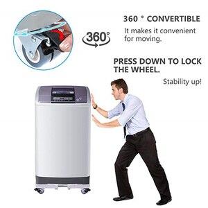Image 4 - 可動冷蔵庫床トロリー冷蔵庫スタンド洗濯機ホルダー 4 強力な足でスタンドブレーキホイール 500 キロ