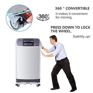 Image 4 - מטלטלין מקרר רצפת עגלת מקרר Stand כביסה מכונת מחזיק 4 חזק רגליים מעמד נייד עם בלם גלגל 500kg