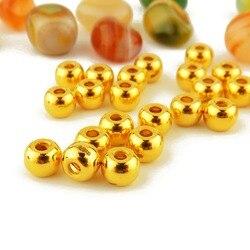 Baru Kedatangan Murni 24 k Kuning Emas Wanita 3D Longgar Bead Pendant 0.6-0.8g