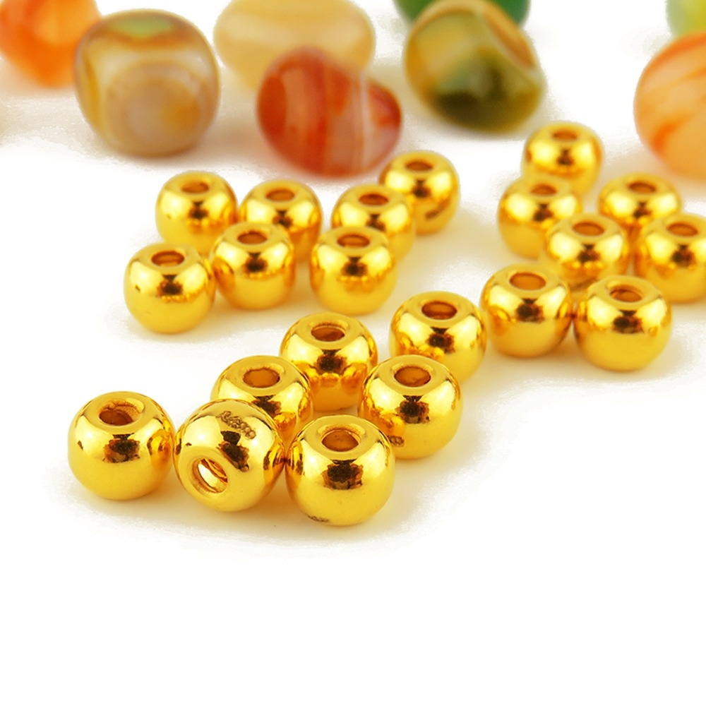 New Arrival Pure 24k Yellow Gold Women 3D Loose Bead Pendant 0.6-0.8g