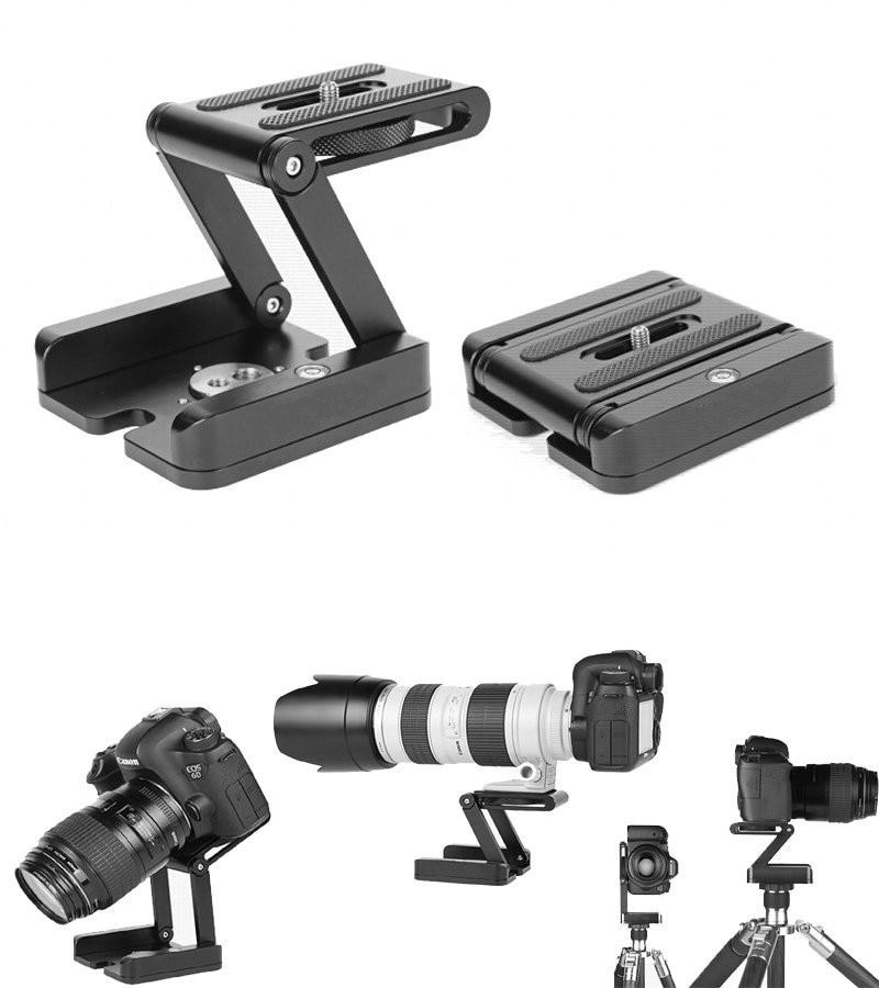Металлический Складной Алюминиевый Камера Z Настольный Держатель Стенд Штатив Flex Пан & Tilt Шаровой Головкой для Цифровой Зеркальный Фотоаппарат Canon Nikon
