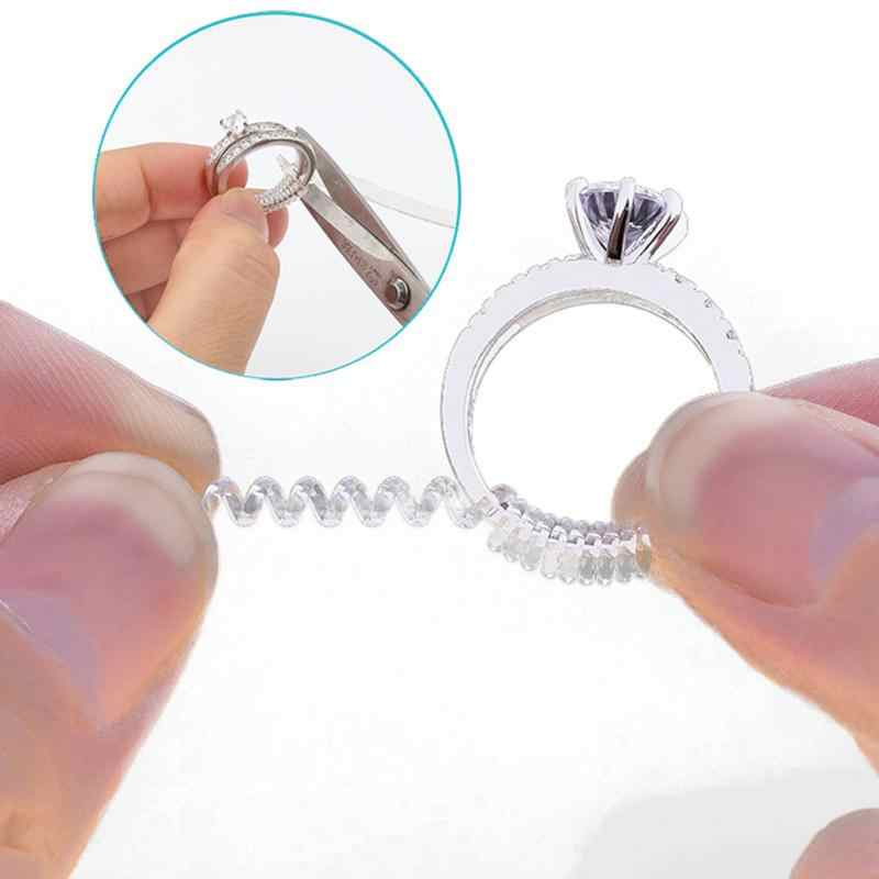 10cm Vintage Spiral Based Ring Size Adjuster Guard Tightener Reducer Resizing Tools Jewelry Parts