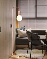 Black / red copper two Nordic minimalist modern fashion wrought iron floor lamp bedroom living room study floor lamp FG410