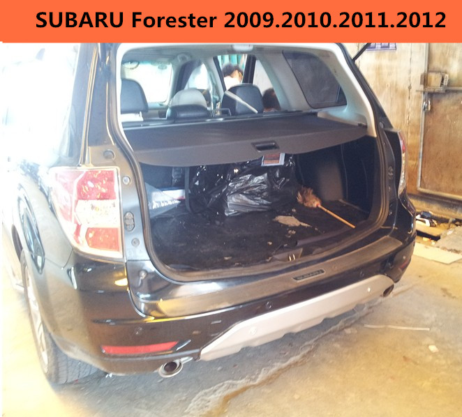 Car Rear Trunk Security Shield Cargo Cover For SUBARU Forester 2009.2010.2011.2012 High Qualit Black Beige Auto Accessories car rear trunk security shield shade cargo cover for honda fit jazz 2004 2005 2006 2007 black beige