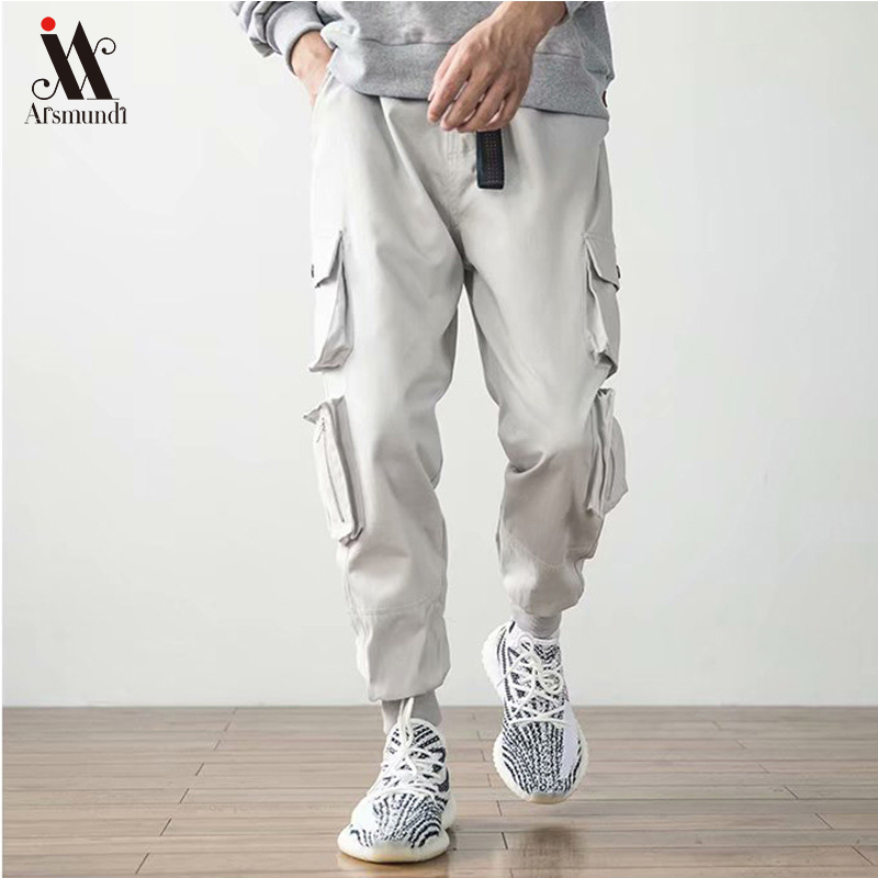 2019New Men's Side Pockets Cargo Harem Pants  Hip Hop Casual Male  Joggers Trousers Fashion Casual Streetwear Pants 3XL