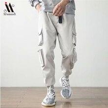 2019New Men's Side Pockets Cargo Harem Pants Hip