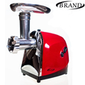 BRAND901 Meat grinder electric powerful household home 1500W,red color,revers function,3 pcs SSmetal cutting plates