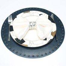 Круглый коврик для кухонного стола из искусственной кожи Коврик для пикника изоляционный коврик настольный коврик для обеденного стола диаметр 38 см