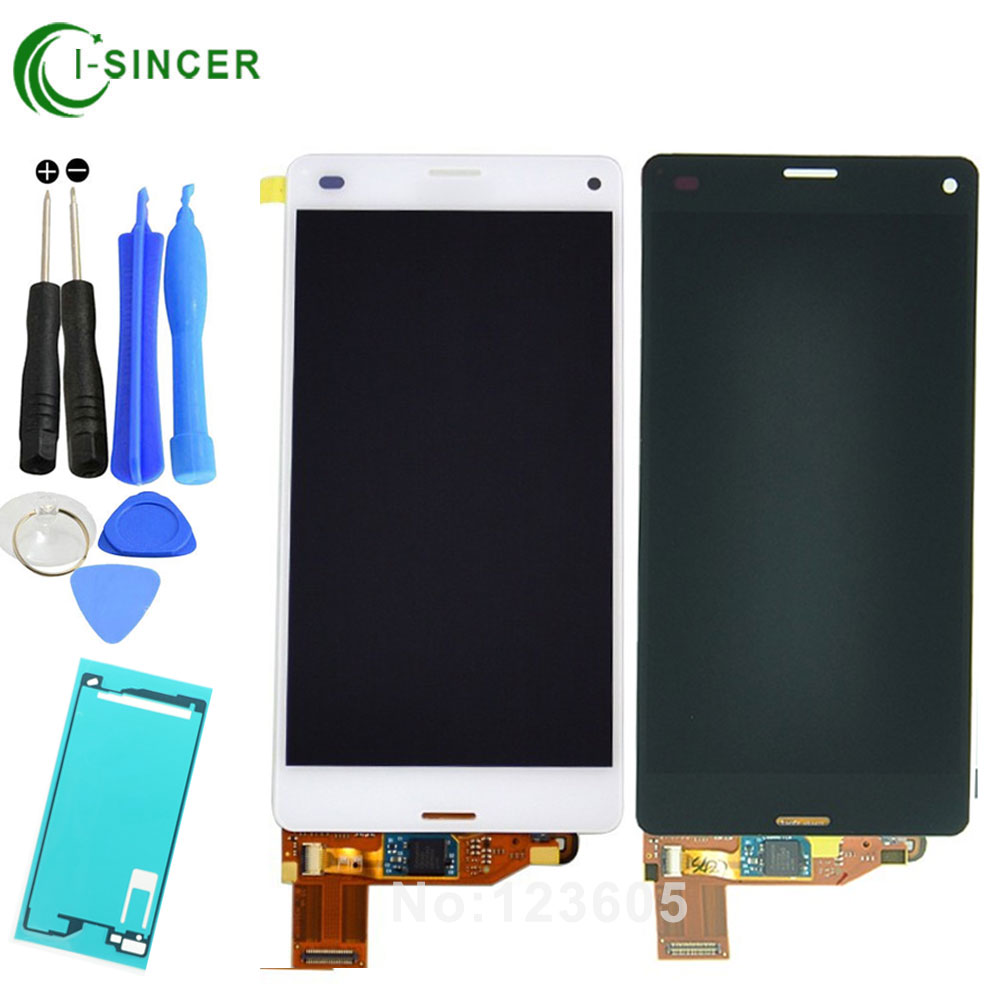 For Sony Xperia Z3 Compact LCD Z3 Mini LCD D5803 D5833 LCD Display Digitizer Touch Screen Assembly+Tools+Sticker Free Shipping best quality original new for sony xperia z3 compact z3 mini m55w black white touch screen lcd display test ok