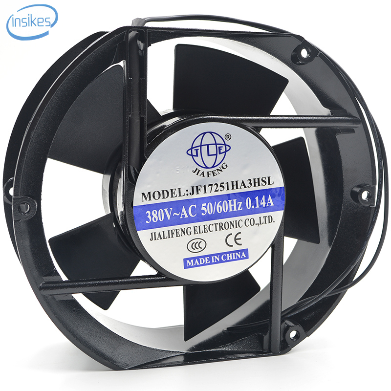 JF17251HA3HSL Exhaust Two Phase Welding Machine Cooling Fan AC 380V 0.14A 17251 17CM 172*150*51mm 2 Wires delta new efb1548vhg 17251 17cm 48v 0 83a circular drive cooling fan for 172 172 51mm