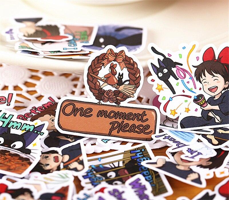 Купить с кэшбэком 40 pcs Cute little girl  Sticker for Luggage Skateboard Phone Laptop Moto Bicycle Wall Guitar/Eason Stickers/DIY Scrapbooking