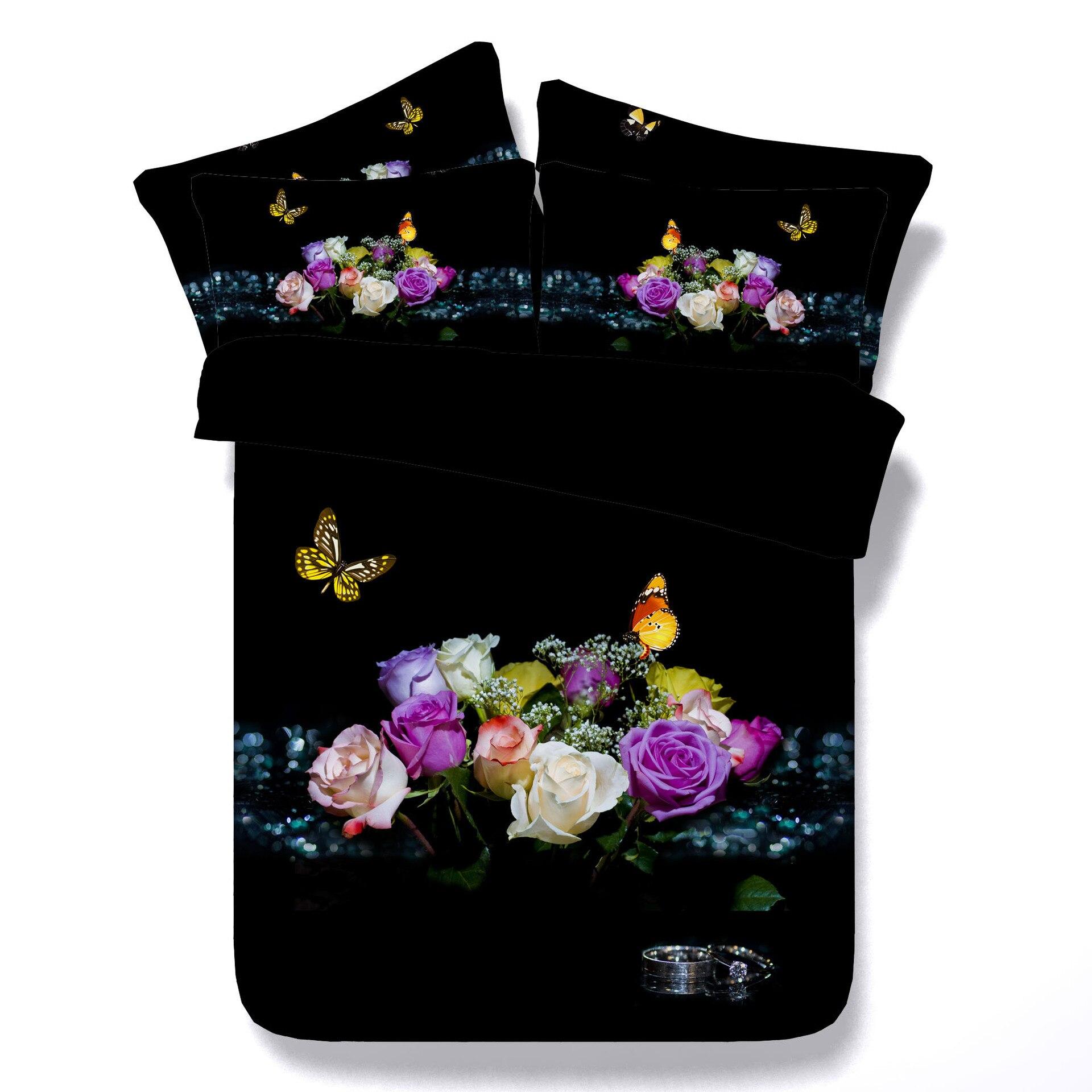 100% QualitäT Blume Mit Schmetterling Digital Print Bettwäsche Set Quilt Abdeckung Design Bett Set Böhmischen Eine Mini Van Bettwäsche 3 Stücke Jf379 Weich Und Rutschhemmend
