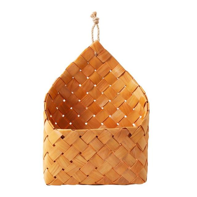AIHOME Natural Cedar Sheet Woven Wall Hanging Basket Flowerpot Decoration Storage Home Decor