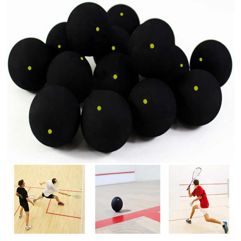 Wall Ball Professional Black Squash Balls With One/Two Dot Blue Fast Yellow Slow Speed Official Rubber Squash Racket Balls